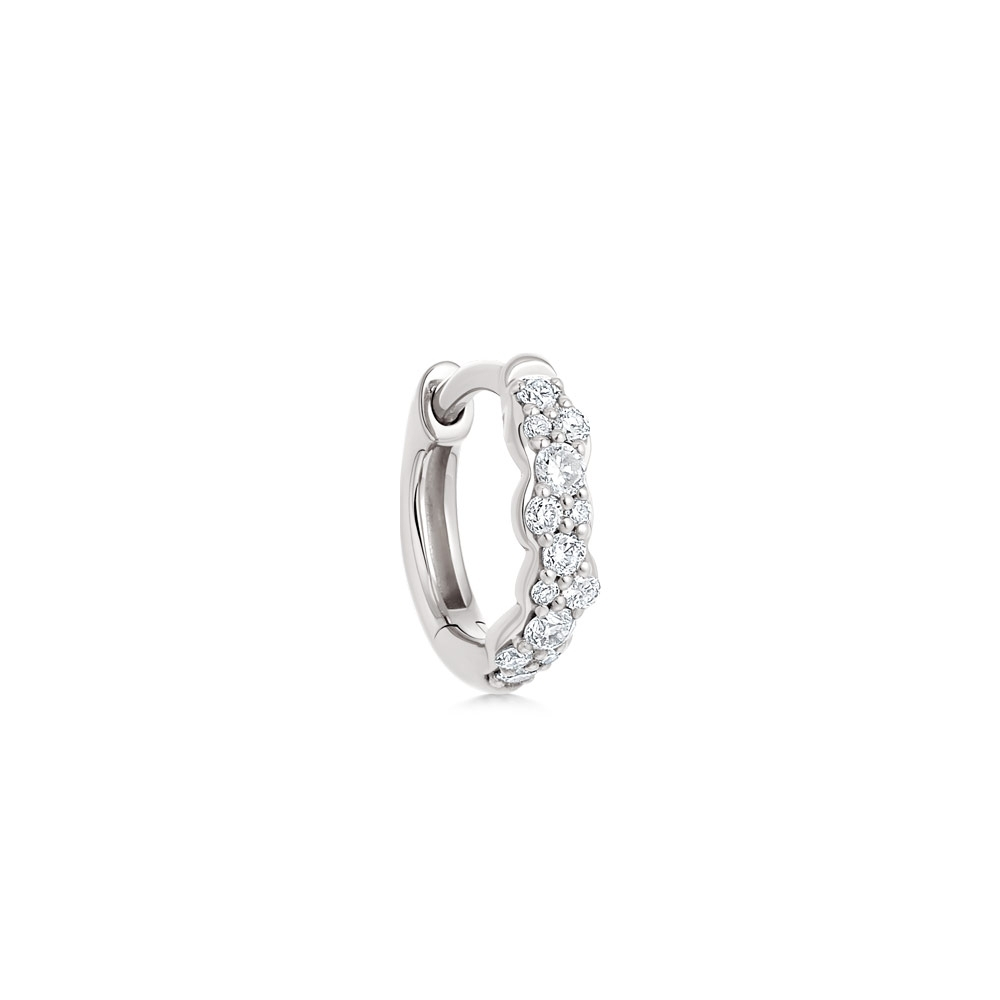 Mini Interstellar Single Diamond Hoop Earring