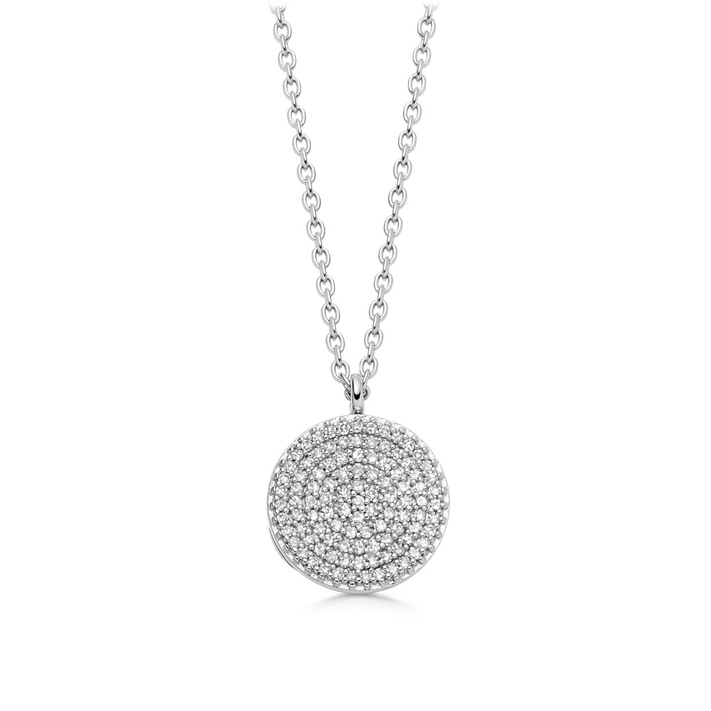 Icon Diamond White Gold Locket Necklace