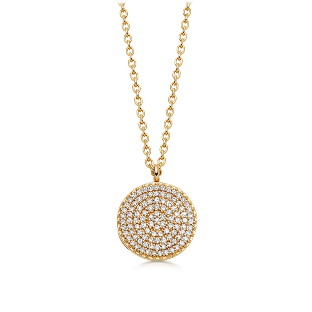 Icon Diamond Gold Locket Necklace