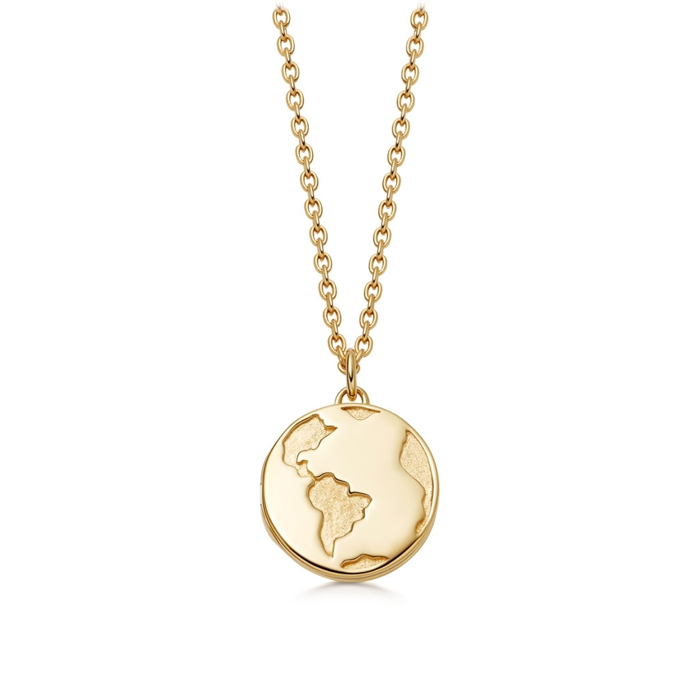 Biography Earth Locket Necklace