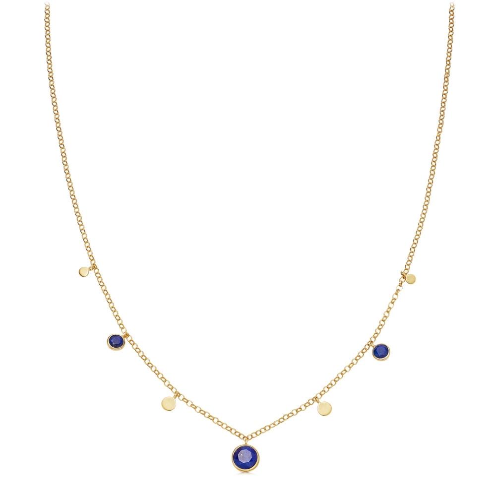 Stilla Droplet Lapis Pendant Necklace