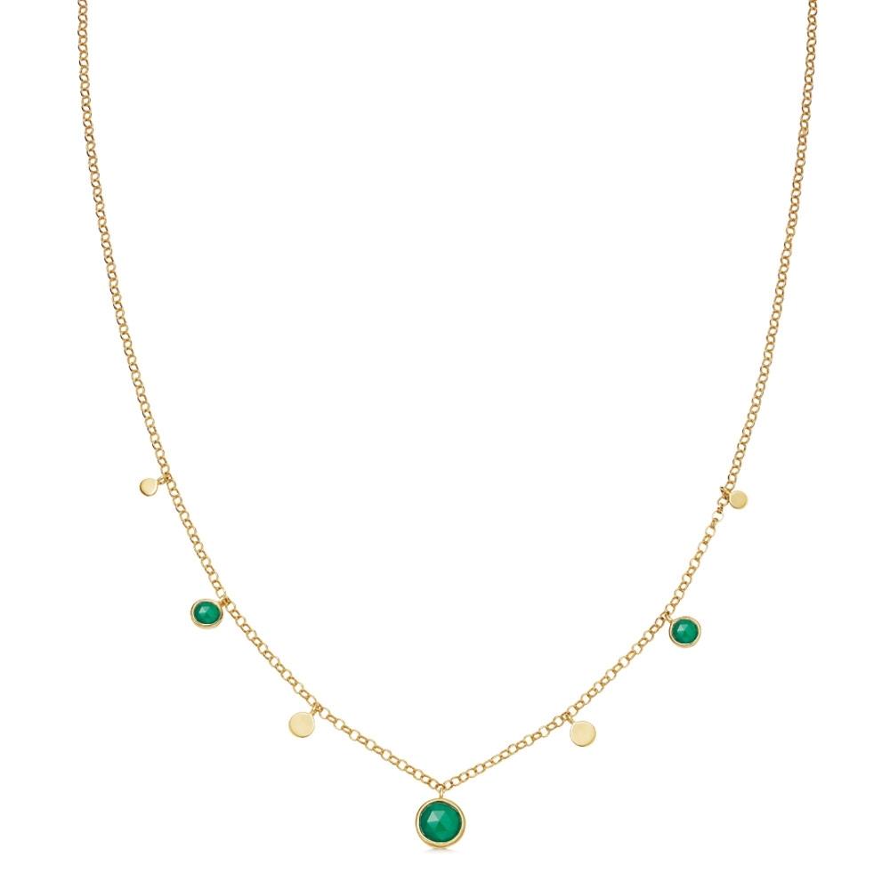 Stilla Droplet Green Onyx Pendant Necklace
