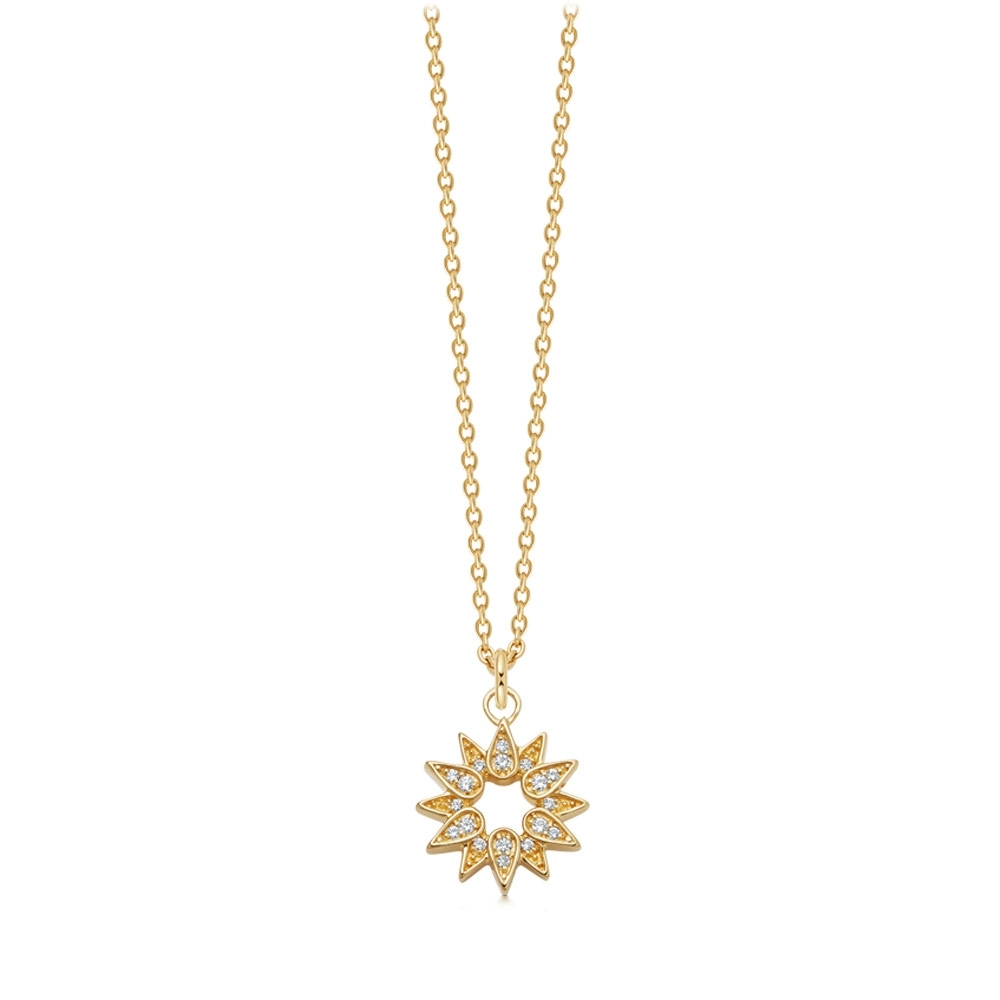 Biography Sun Pendant Necklace