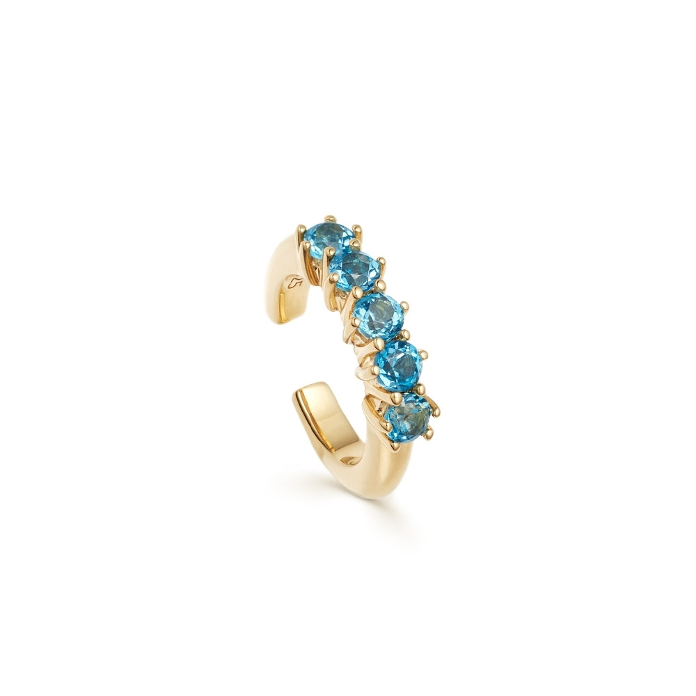 Linia London Blue Topaz Ear Cuff