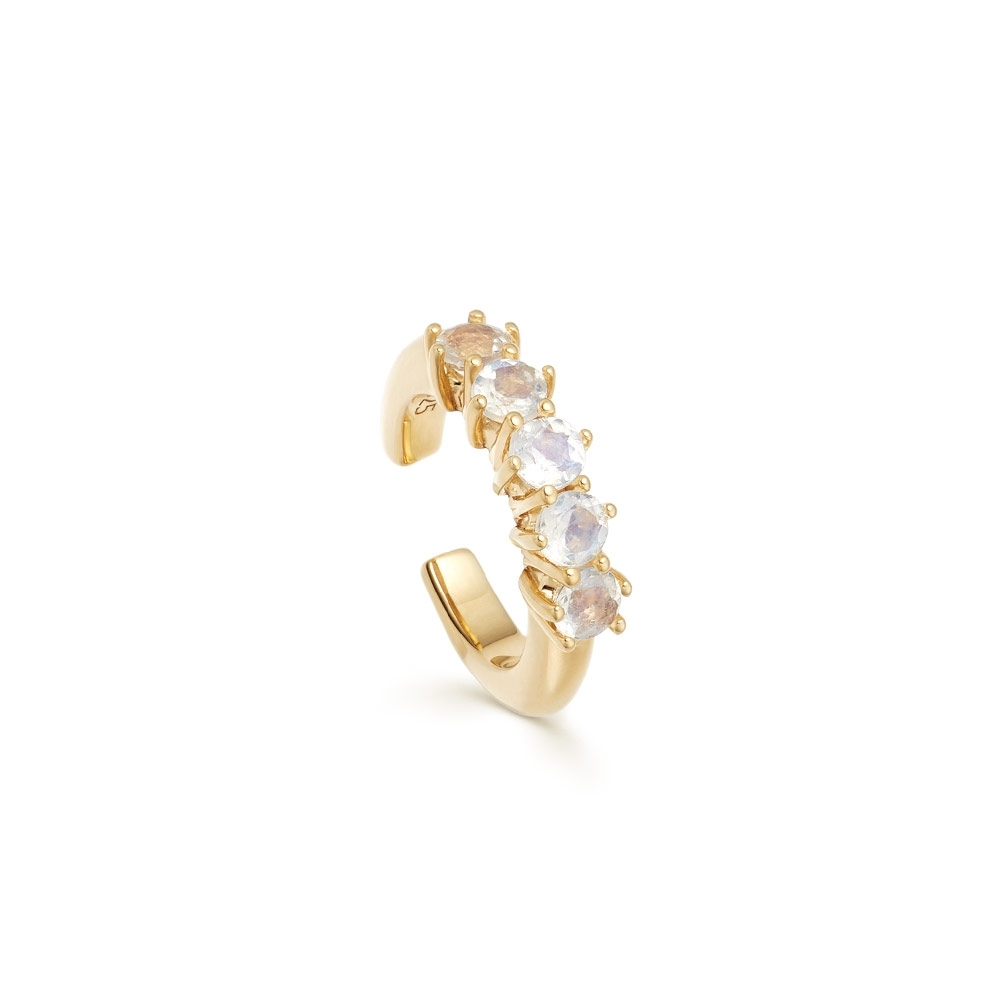 Linia Rainbow Moonstone Ear Cuff