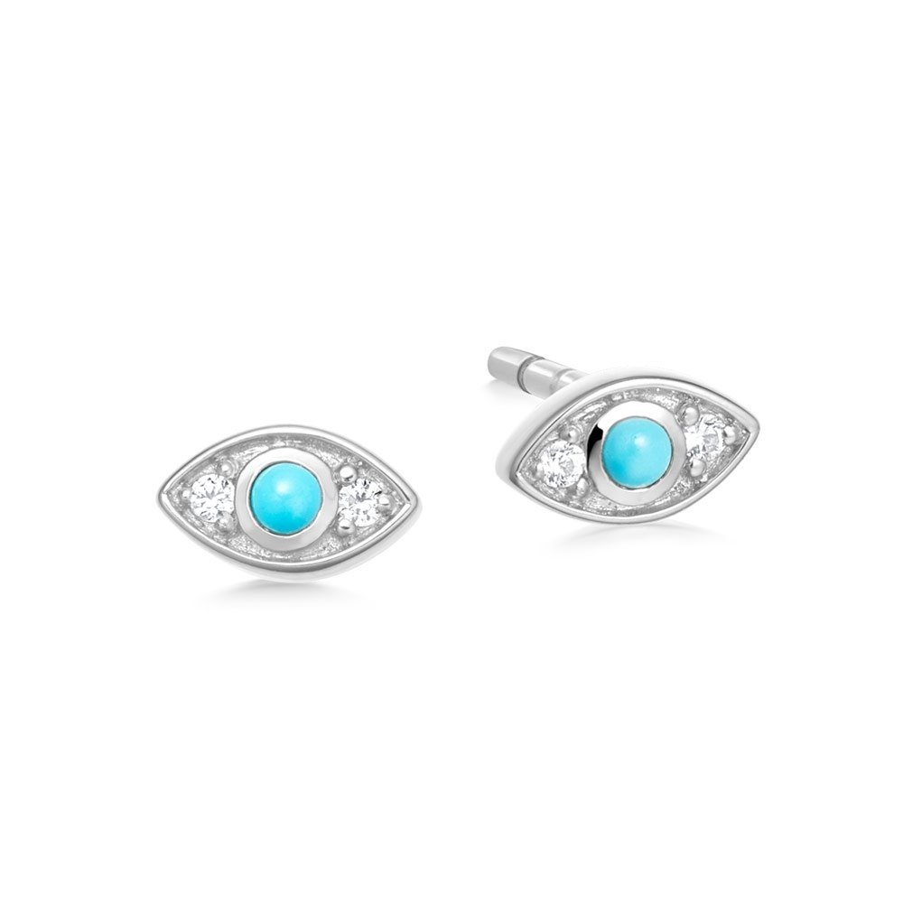 Tiny Evil Eye Stud Earrings