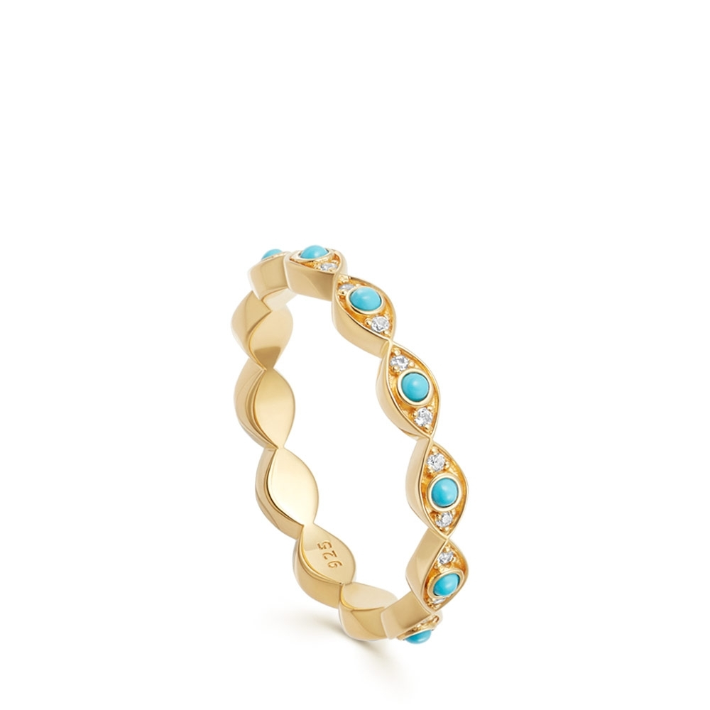 Biography Evil Eye Stacking Ring