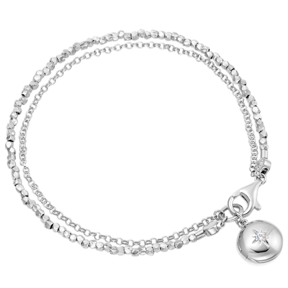 Biography Locket Bracelet