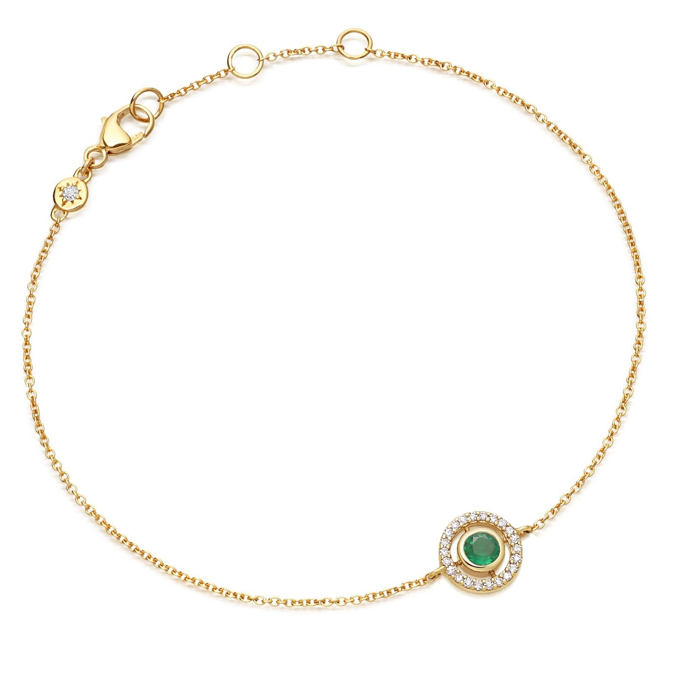 Mini Icon Aura Emerald Bracelet