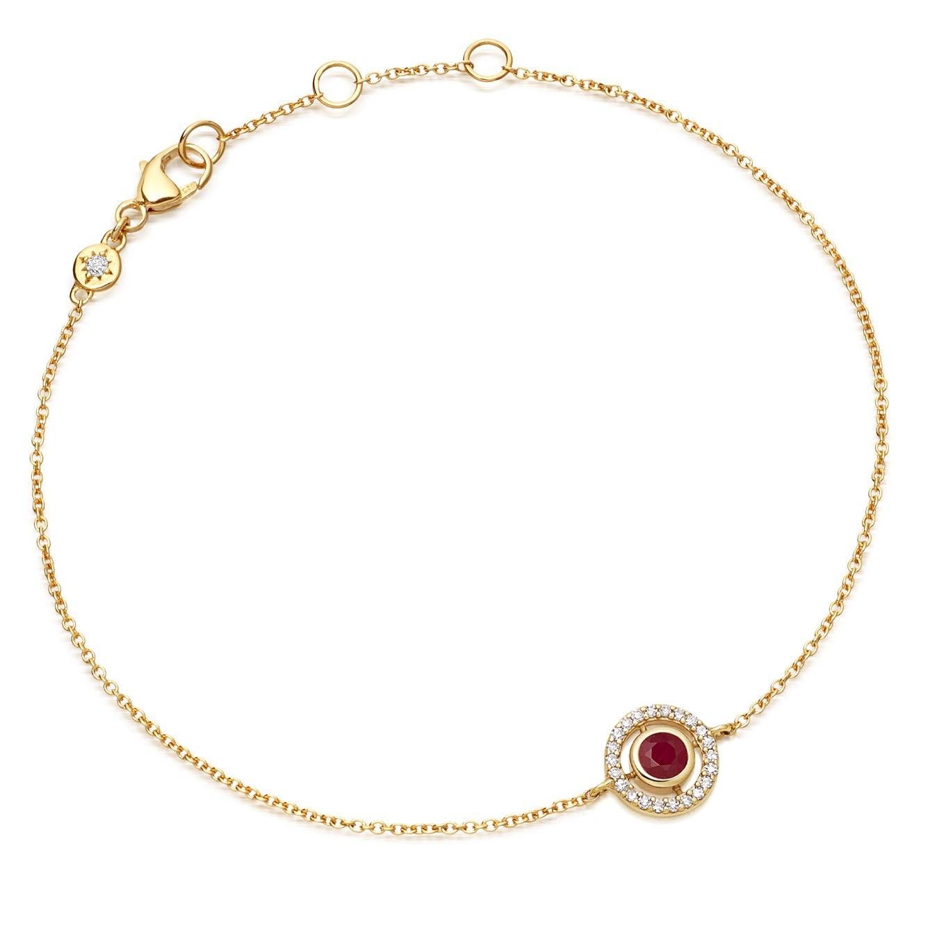 Mini Icon Aura Ruby Bracelet