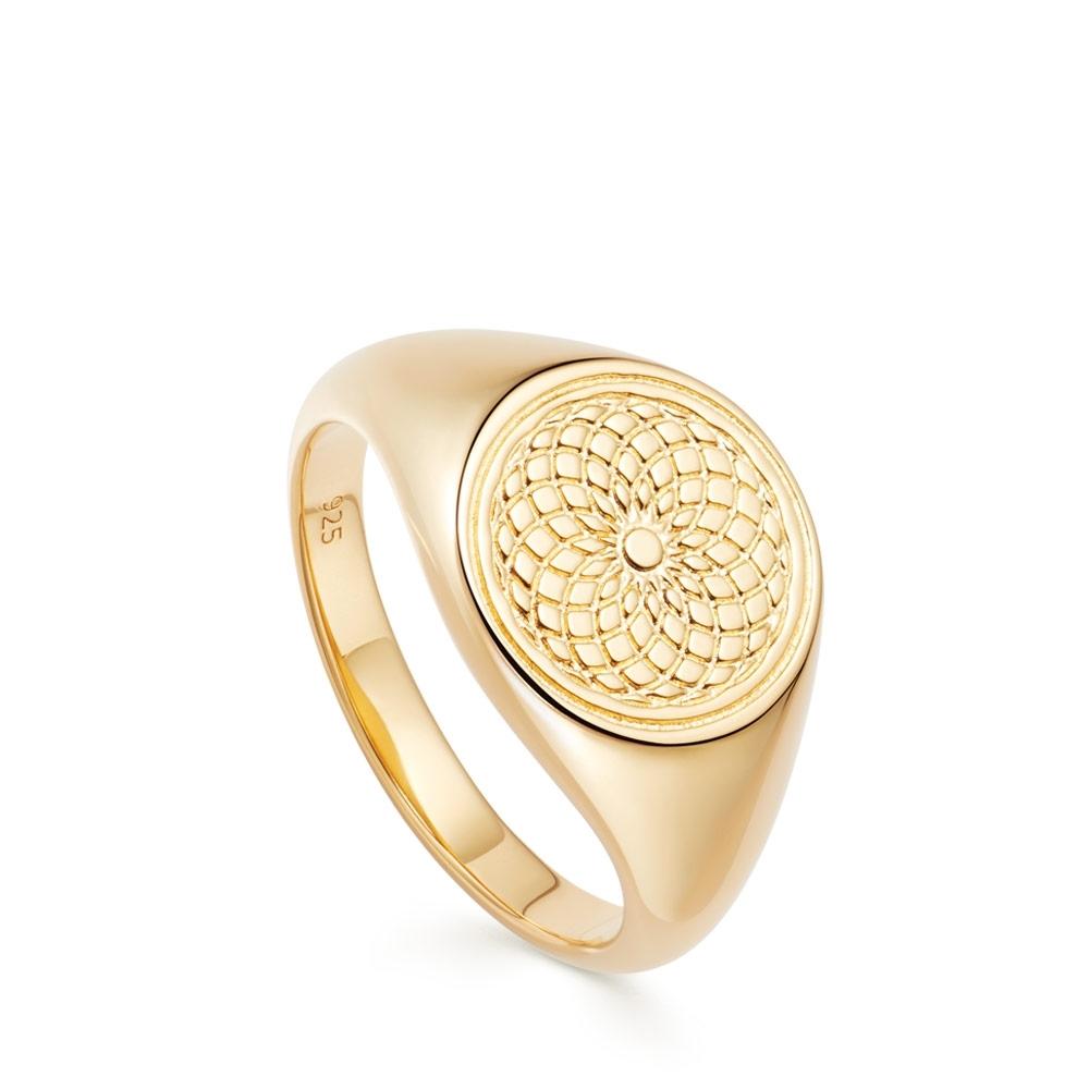 Celestial Radial Signet Ring