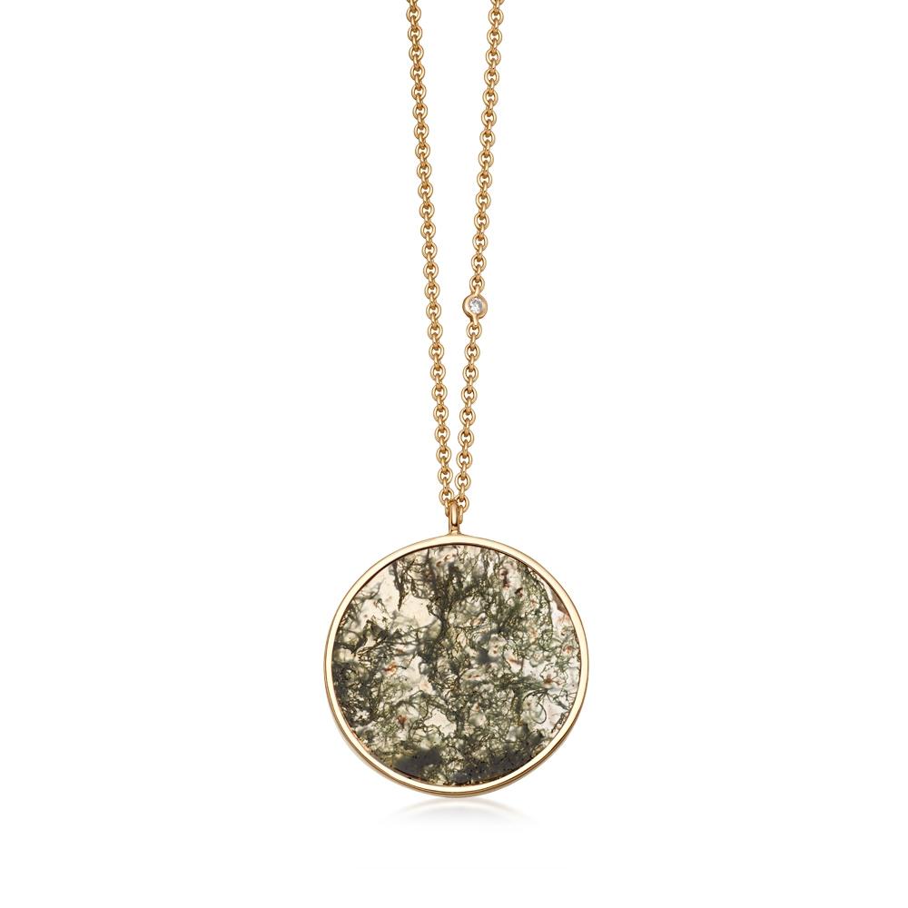 Moss Agate Venus Pendant