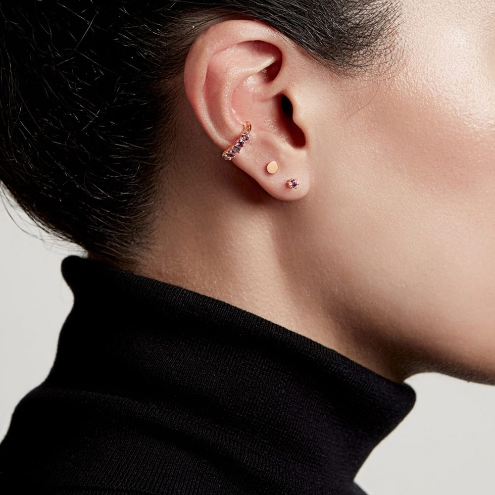 Linia Rhodolite Ear Cuff