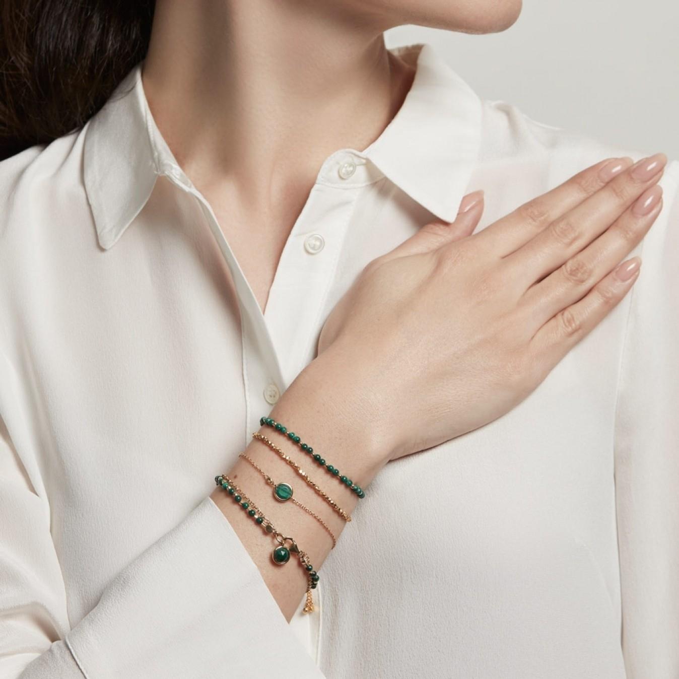 Malachite Biography Bracelet