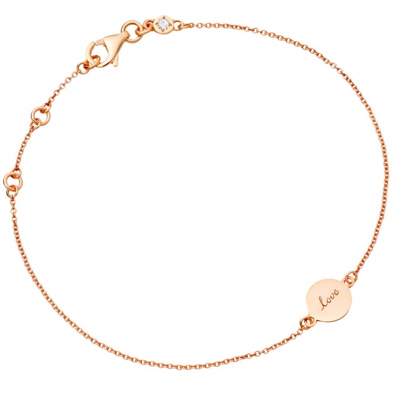 Tiny Love Disc Bracelet