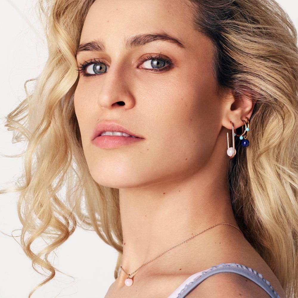 Lapis Vera Drop Hoop Earrings