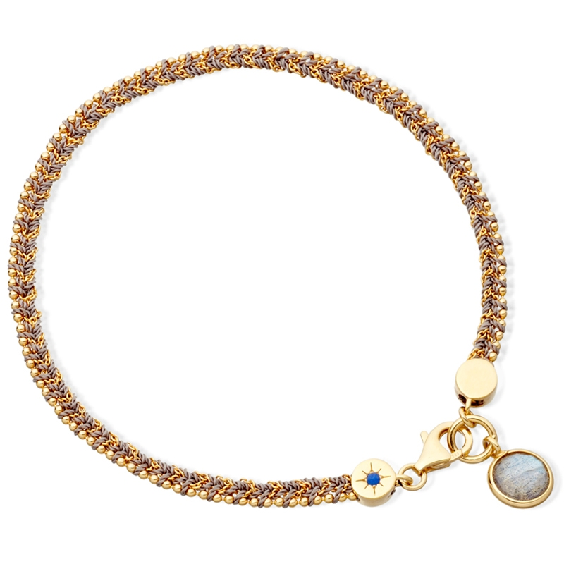 Labradorite Woven Biography Bracelet