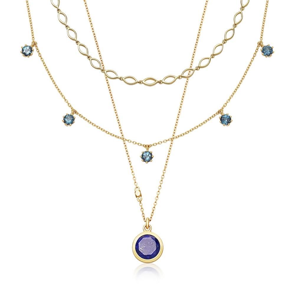 True Blue Necklace Stack