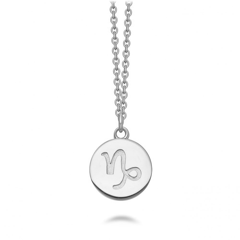 Capricorn Zodiac Biography Pendant