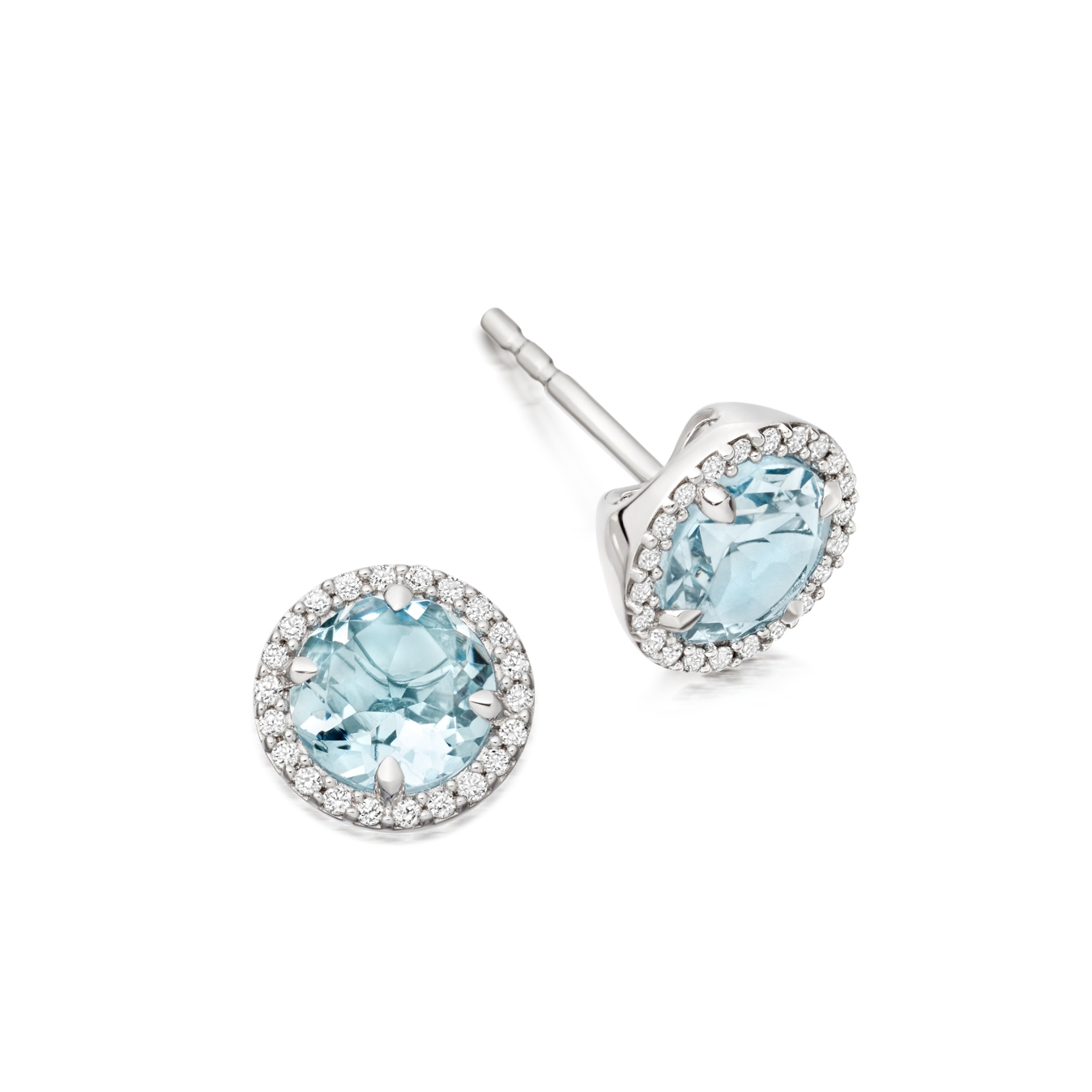 Aquamarine Leah Stud Earrings