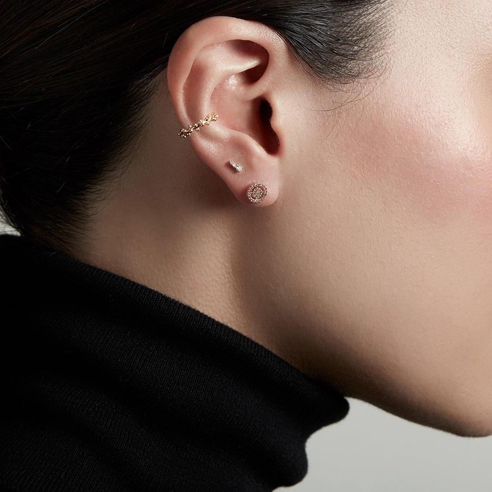 Mini Interstellar Diamond Single Stud Earring