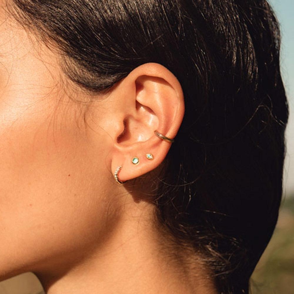Mini Stilla Green Onyx Single Stud Earring
