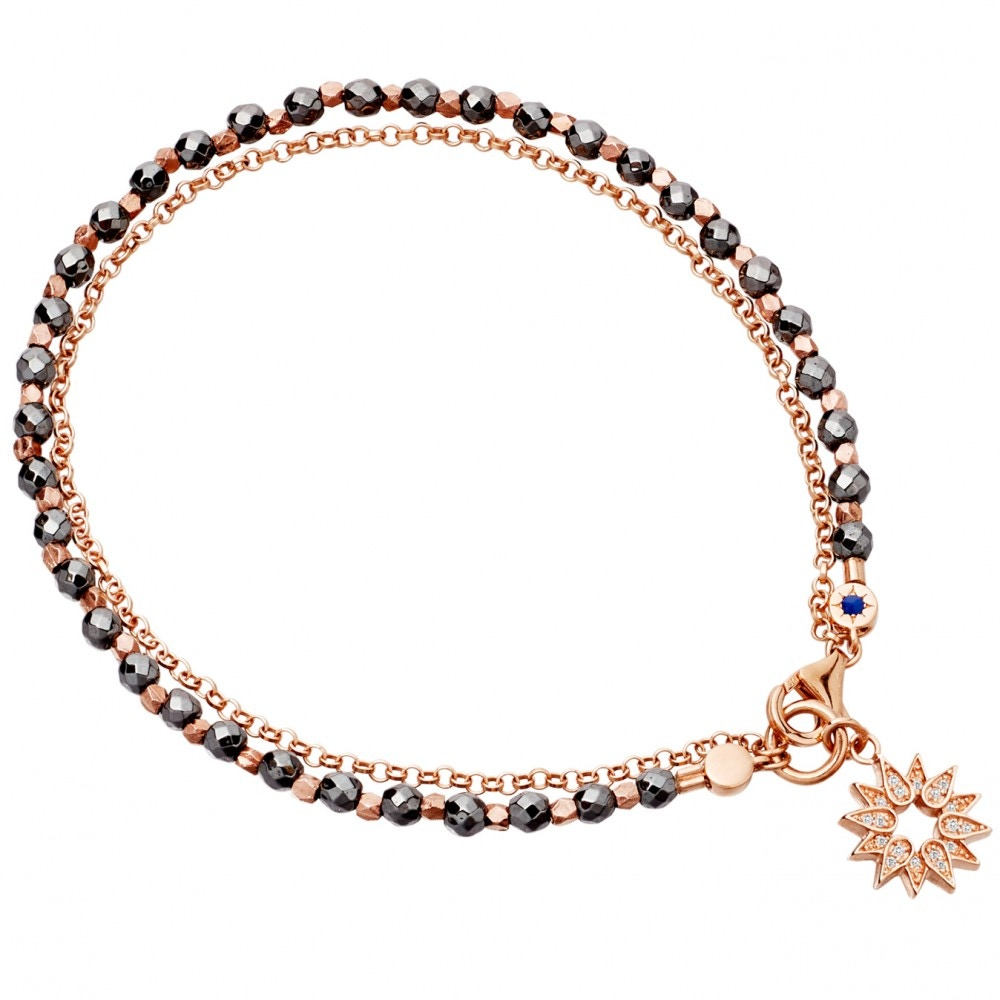 Hematite Sun Bracelet Stack