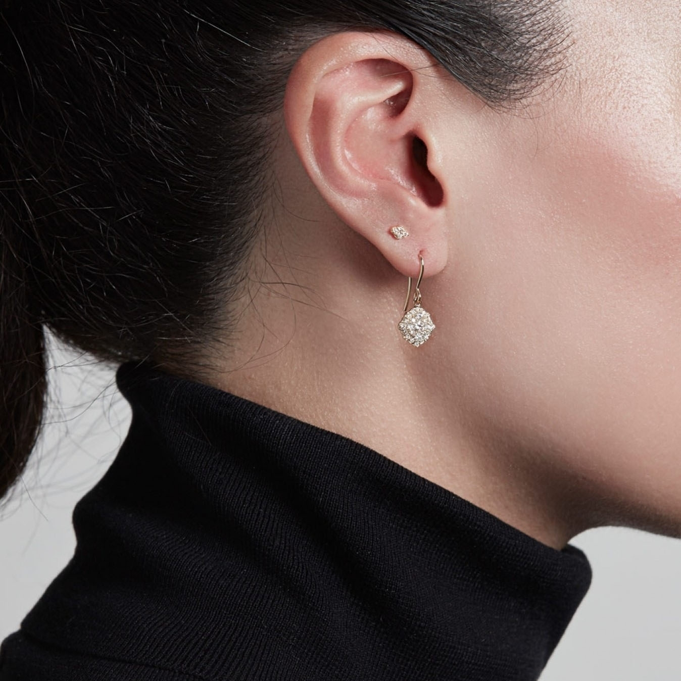 Interstellar Cluster Drop Diamond Earrings