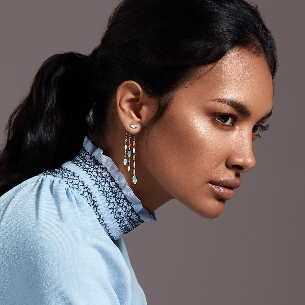 Large Paloma Fallen Petal Drop Earrings