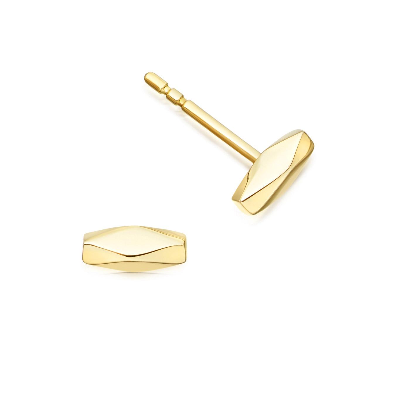 Faceted Stud Prismic Earrings