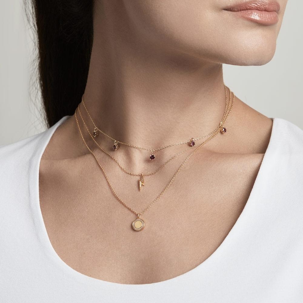Linia Rhodolite Choker Necklace