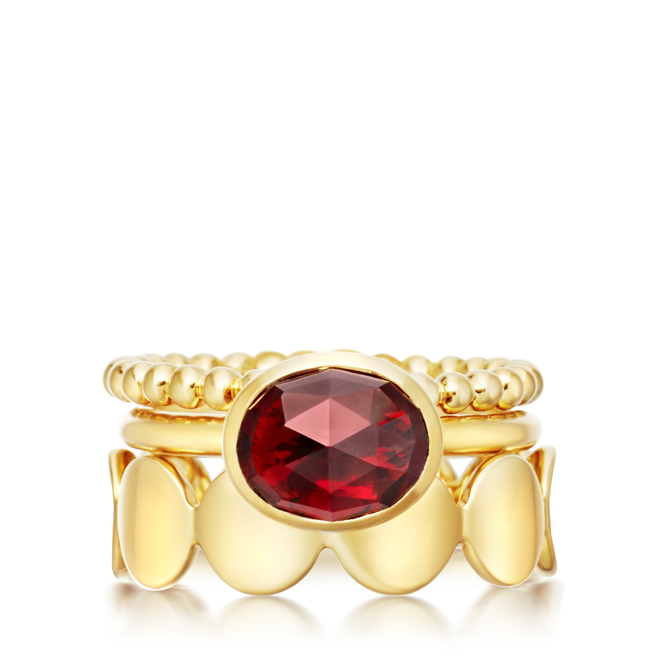 Crimson Appeal Stilla Ring Stack