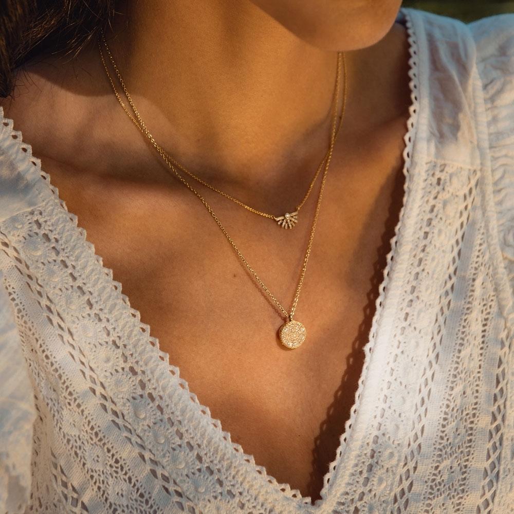 Icon Diamond Gold Locket Necklace