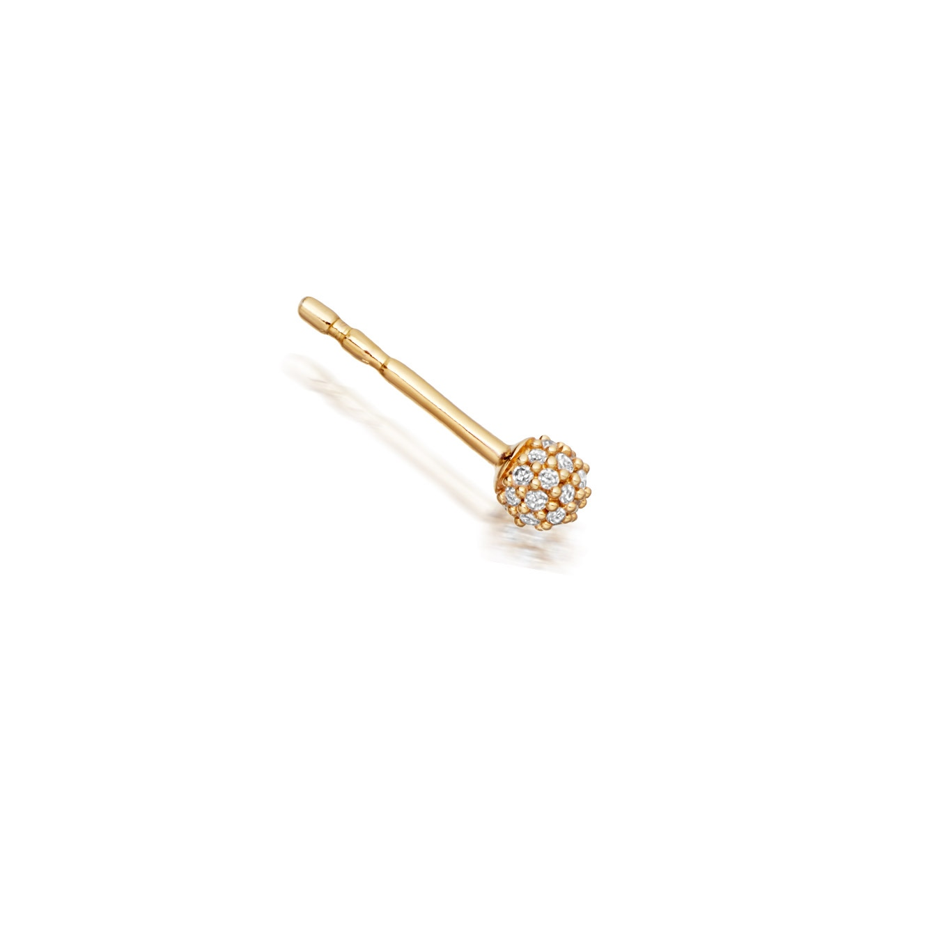 Pavé Ball Halo Single Stud Earring