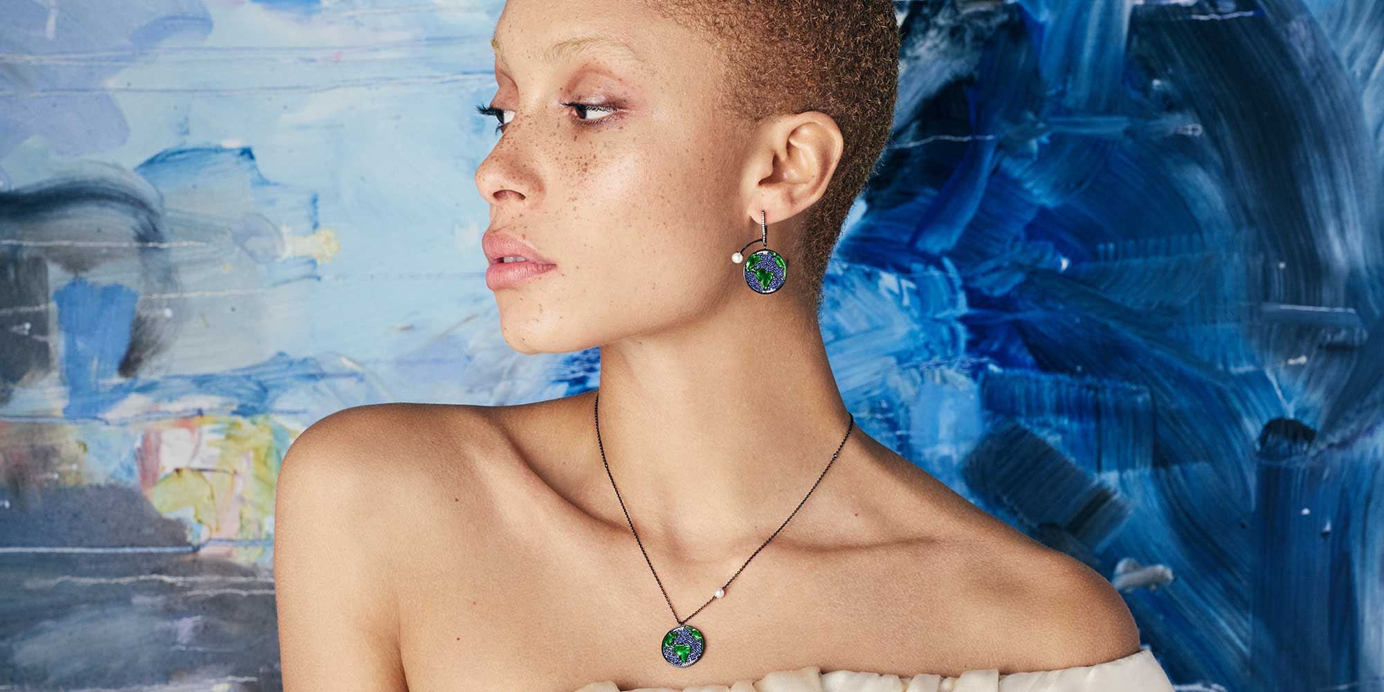 Adwoa Aboah wearing pieces from the Astronomy collection